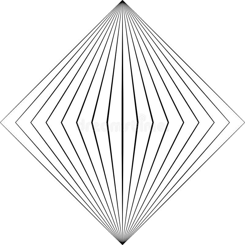 光学艺术 Geomrtric黑白抽象幻觉 皇族释放例证