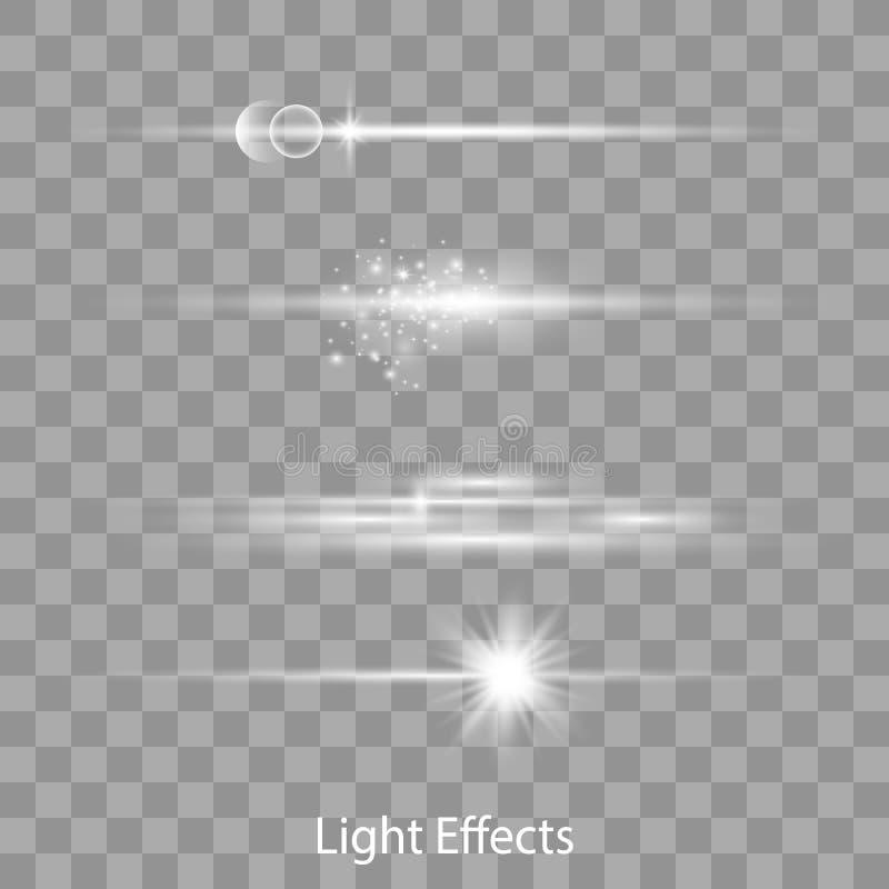 光学透镜火光光线影响 库存例证