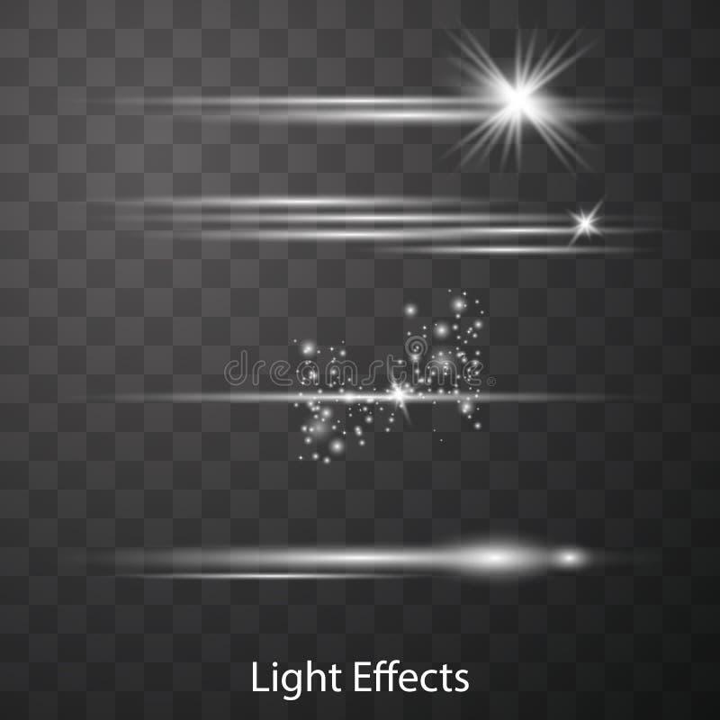 光学透镜火光光线影响 向量例证
