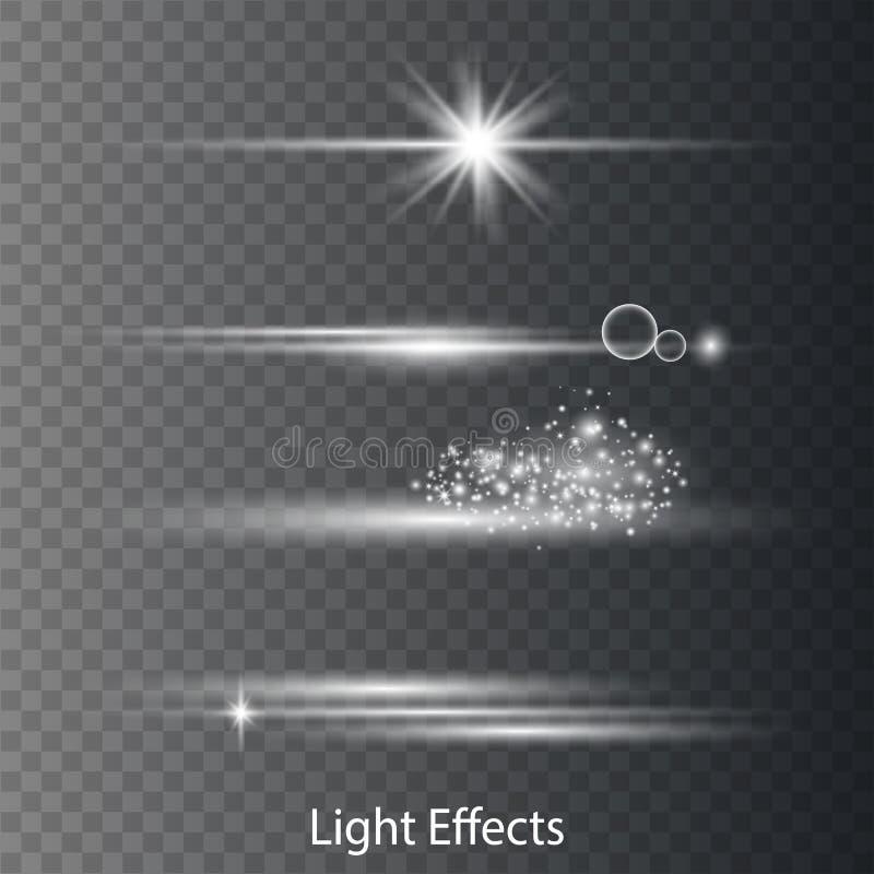 光学透镜火光光线影响 皇族释放例证