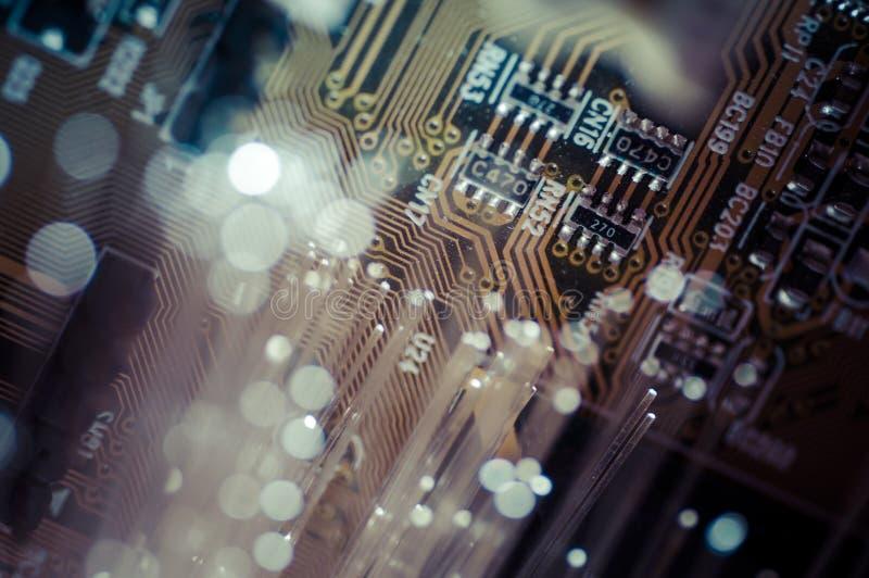 光学 光纤,纤维连接, telecomunications 免版税库存照片