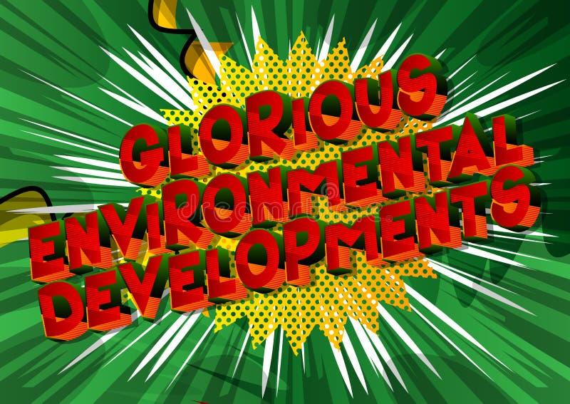 光彩的环境发展-漫画样式词 皇族释放例证