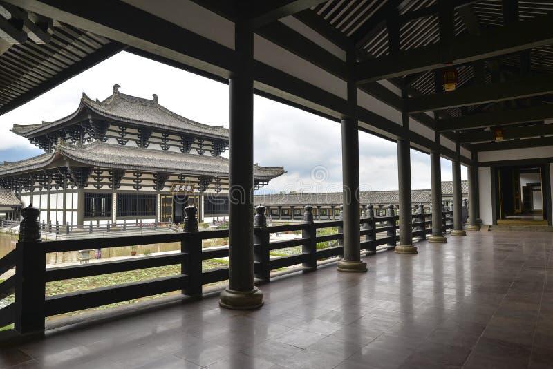光明村寺庙,唐朝样式中国寺庙,四川 免版税库存照片