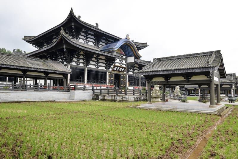 光明村寺庙,唐朝样式中国寺庙,四川 图库摄影