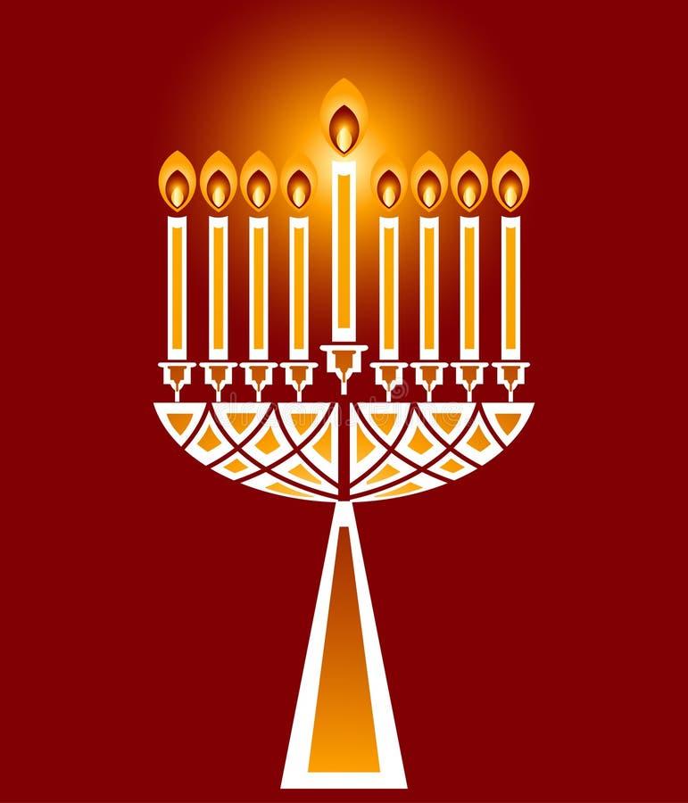 光明节蜡烛 皇族释放例证