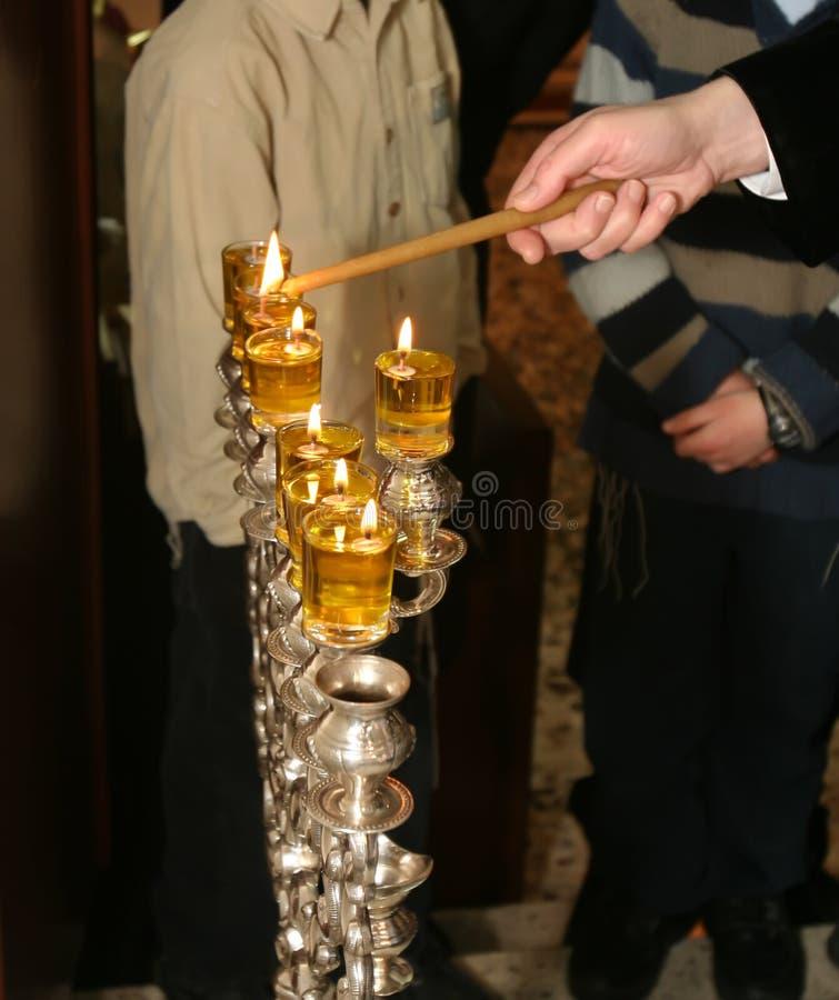 光明节,犹太节假日 免版税图库摄影