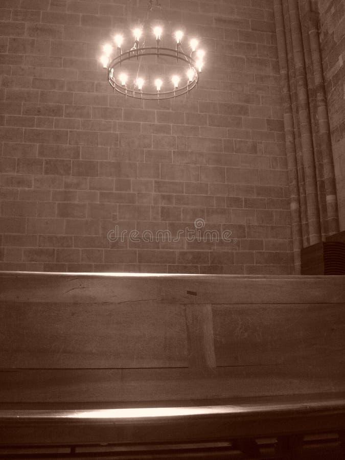 光晕在大教堂里 免版税库存照片