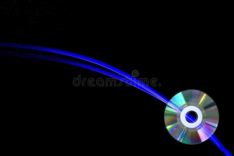 光柱和光盘 库存图片