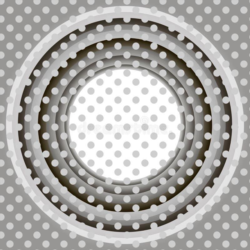 光栅无限圆的隧道发光飘动灰色树荫  向量例证