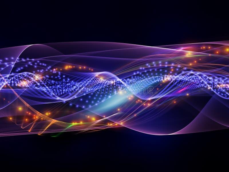 光正弦波  向量例证
