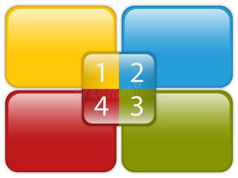 光滑企业五颜六色的绘制 皇族释放例证