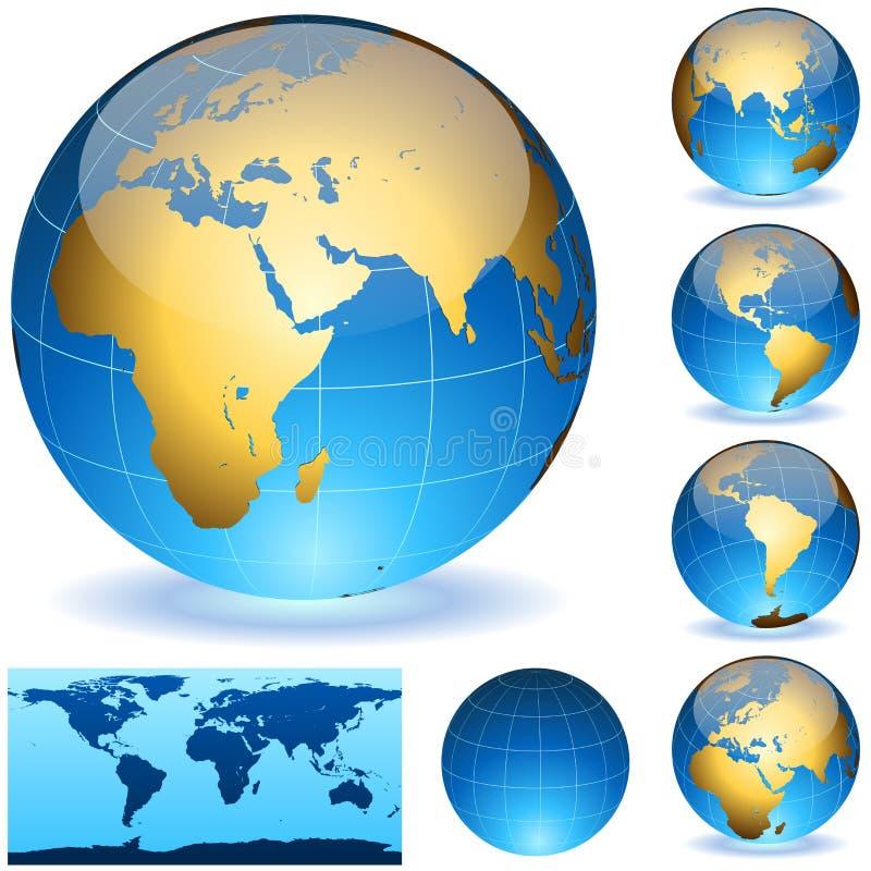 光滑地球的地球 向量例证