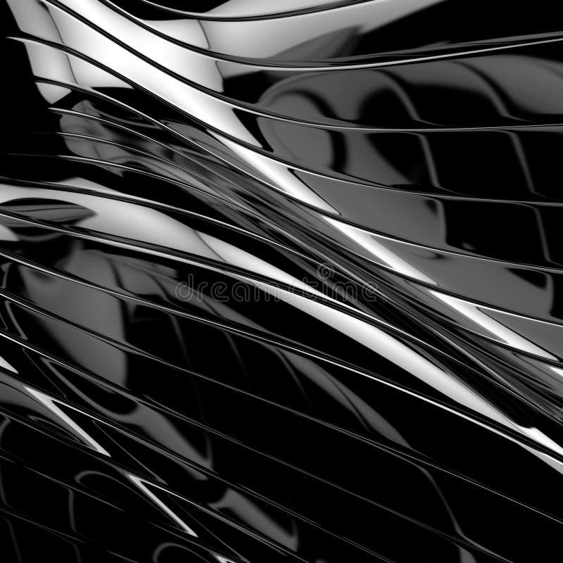 光滑抽象背景的黑色 向量例证