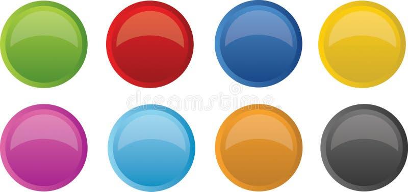 光滑明亮的按钮 向量例证