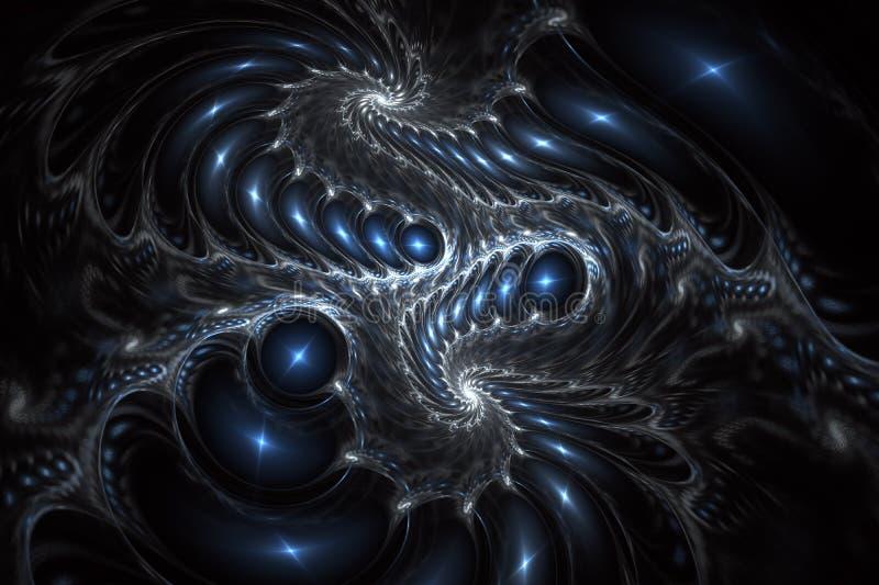 光滑的不对称的螺旋设计 抽象swirly幻想艺术 皇族释放例证