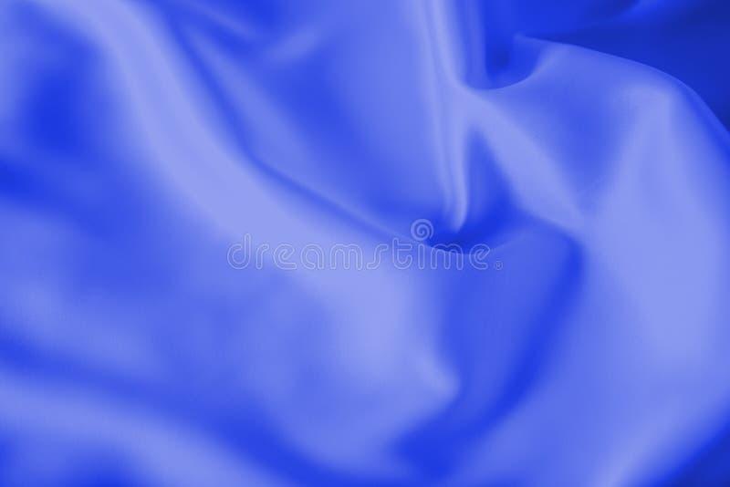 光滑的典雅的蓝色丝绸或缎豪华布料纹理可能使用作为抽象假日背景 库存照片