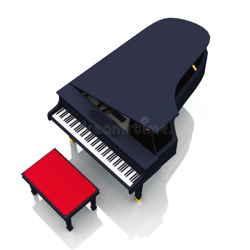 光滑的大平台钢琴 皇族释放例证