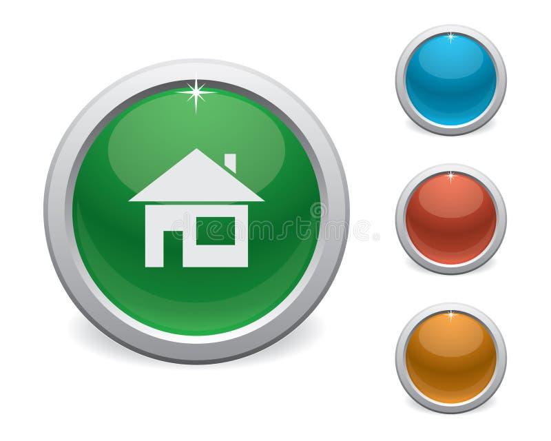 光滑的家庭按钮 向量例证