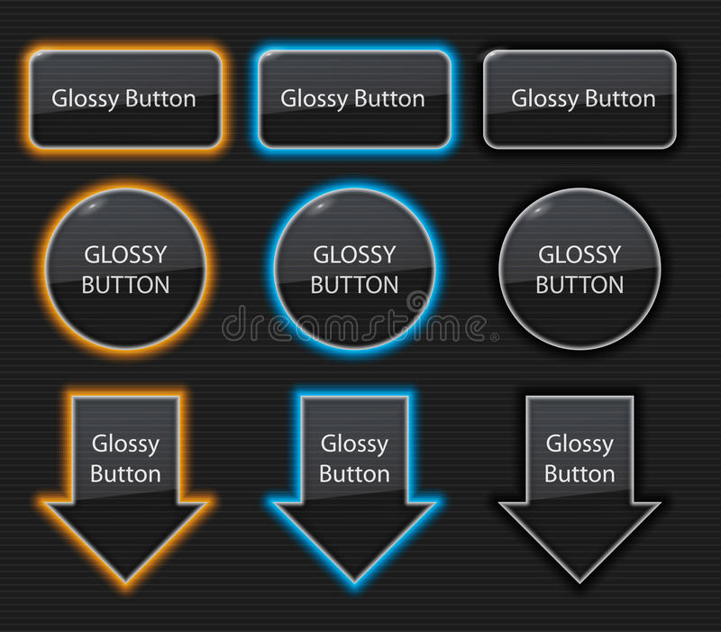 光滑的按钮 向量例证