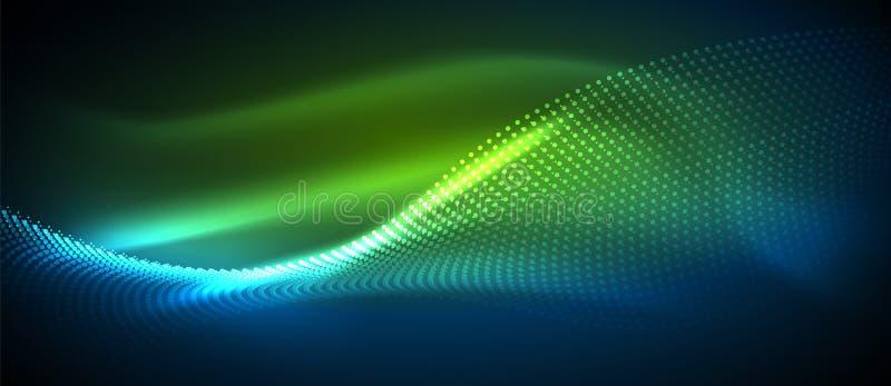 光滑的烟微粒波浪 库存例证