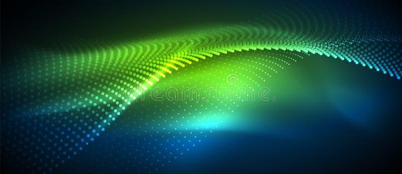 光滑的烟微粒波浪 向量例证
