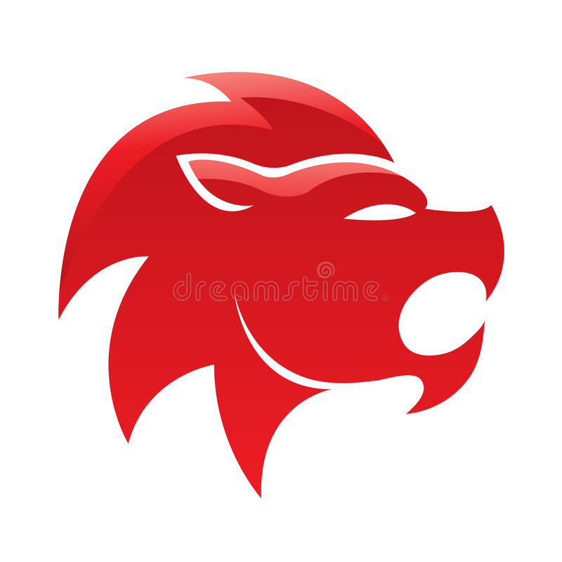 光滑的狮子红色 向量例证
