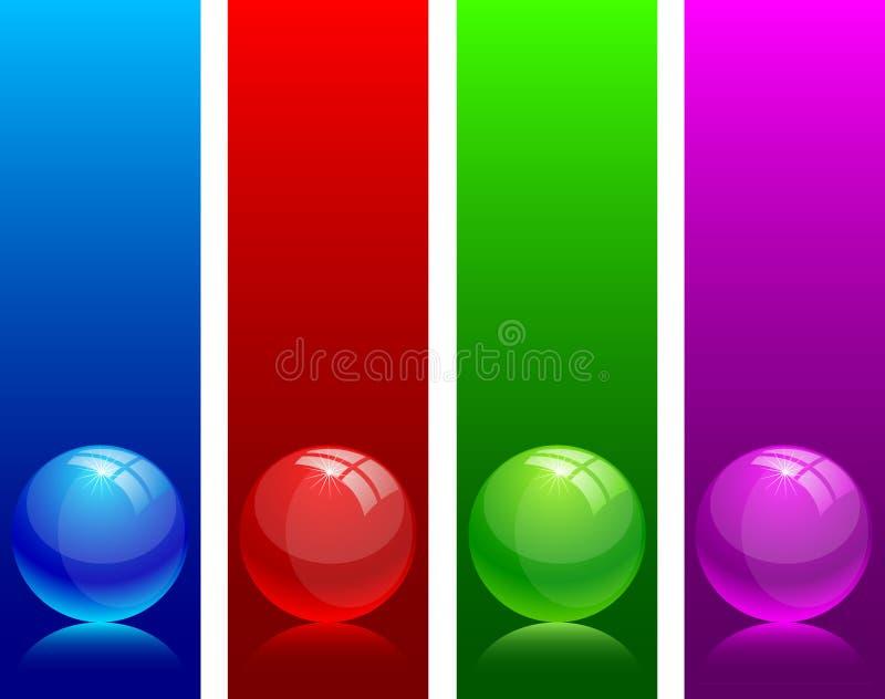 光滑的球 向量例证
