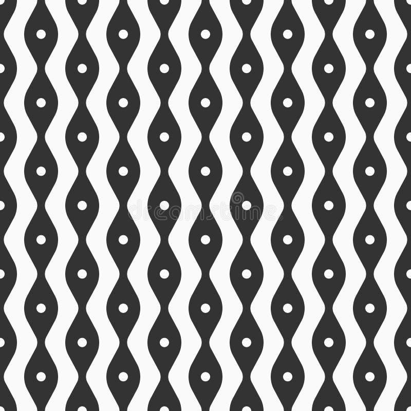 光滑的线和小点的抽象无缝的样式 时髦的织品印刷品 向量例证