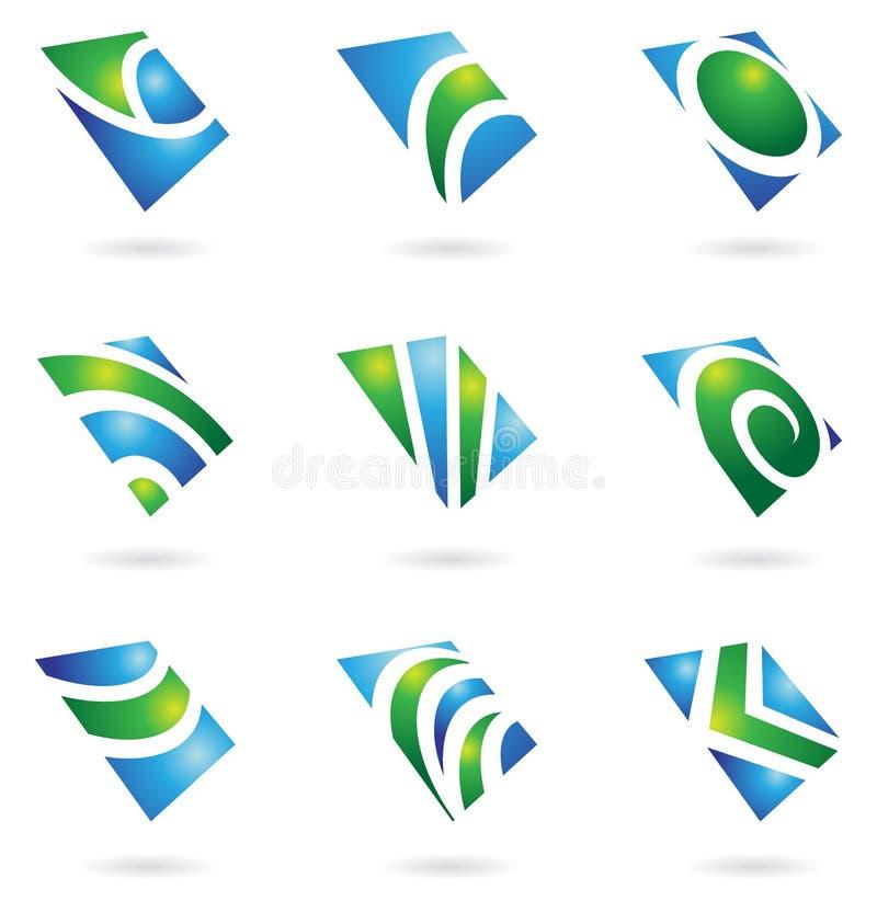 光滑的绿色徽标 向量例证
