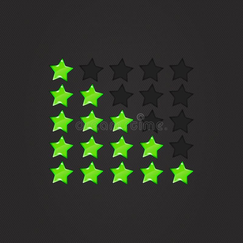 光滑的评级担任主角绿色 向量例证