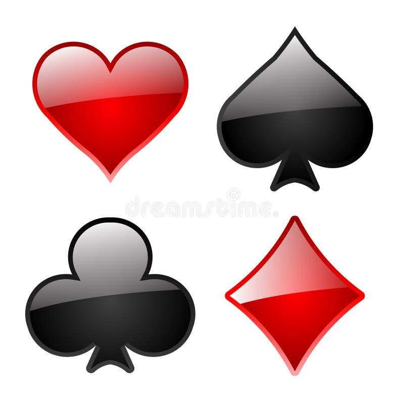光滑的playcard图标 向量例证