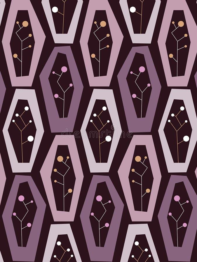 光点图形紫色减速火箭的花瓶 库存例证