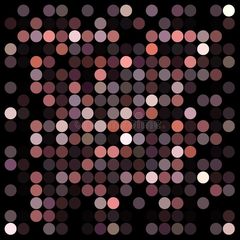 光点图形 向量例证