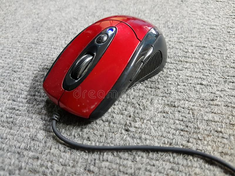 光电鼠标类型有线 库存图片