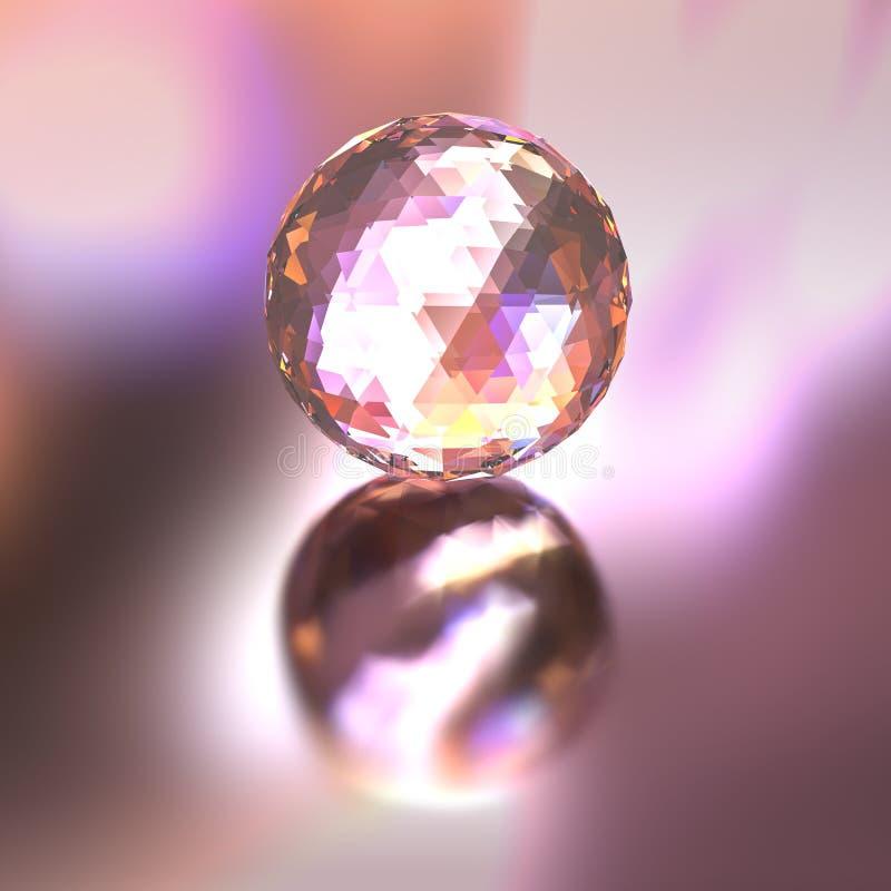 光的水晶球颜色 向量例证
