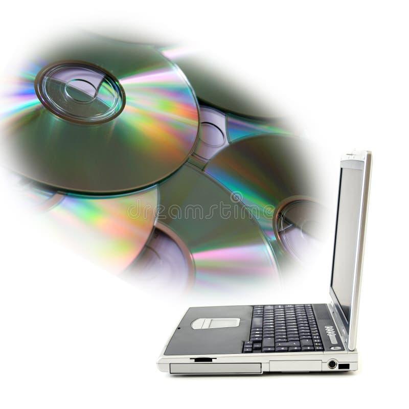 光盘超负荷 免版税库存图片