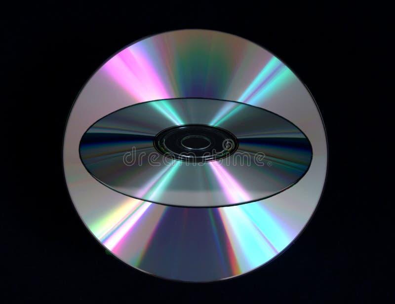 光盘重叠 免版税库存照片
