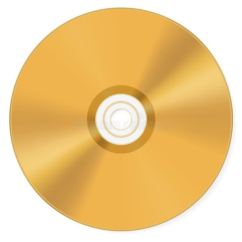 光盘金子 库存例证