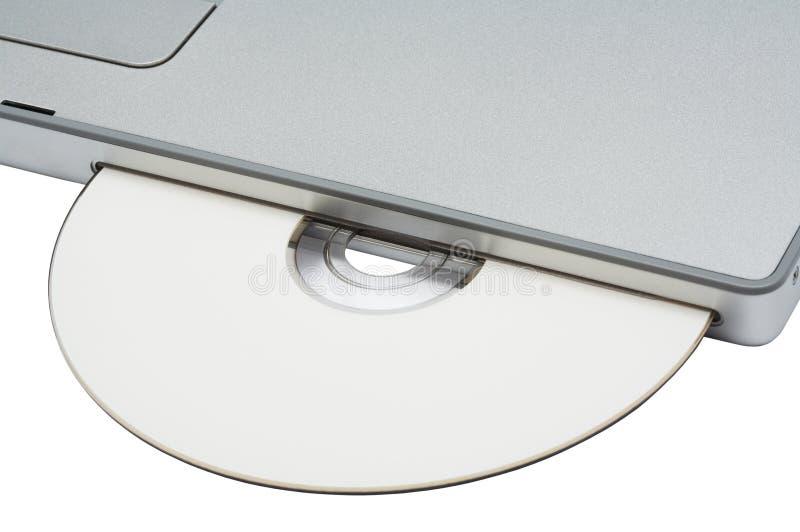 光盘驱动器现代笔记本rom 免版税库存图片