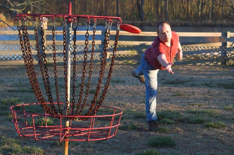 光盘高尔夫球 免版税库存照片