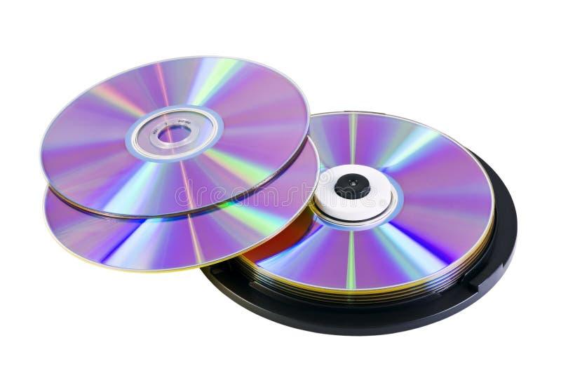 光盘dvd许多 库存图片