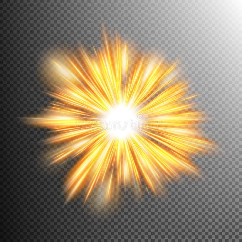 光线影响担任主角爆炸 10 eps 向量例证