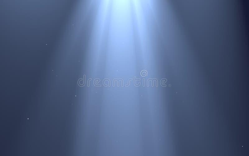 光线影响被隔绝的光芒对躺在的设计的黑背景 库存例证