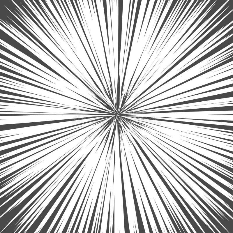光线 爆炸传染媒介例证 太阳光芒或星爆炸元素 库存例证