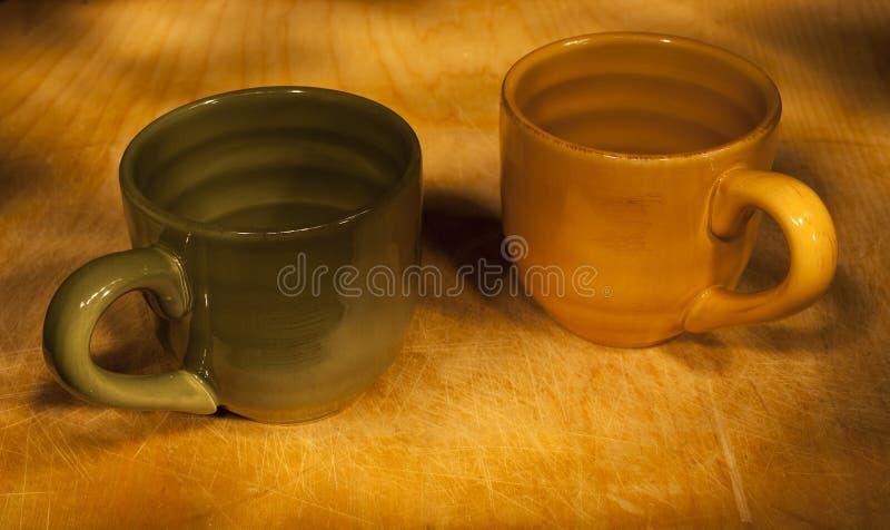 光绘的两杯 免版税图库摄影