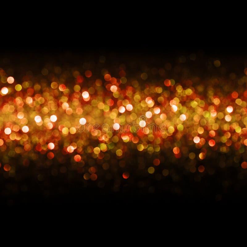 光背景,抽象无缝的迷离光Bokeh,红色 库存照片