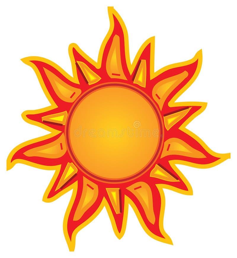 光芒四射的星期日 向量例证