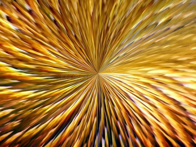 光芒多彩多姿的线的抽象图象在空间的 向量例证