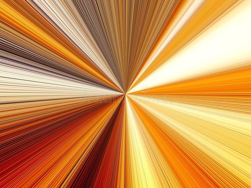 光芒多彩多姿的线的抽象图象在空间的 库存例证