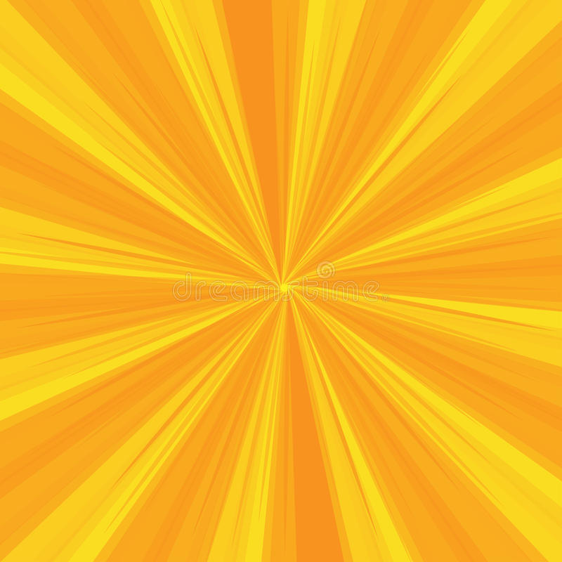 光芒仿造与黄灯爆炸条纹 太阳光芒 抽象墙纸背景 也corel凹道例证向量 库存例证